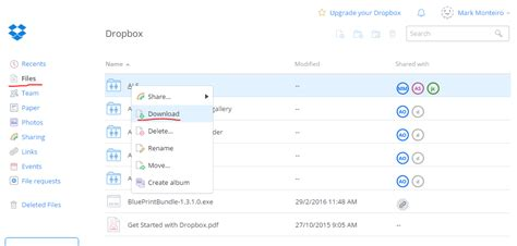 dropbox shared folder how to download a dropbox folder someone shared me web