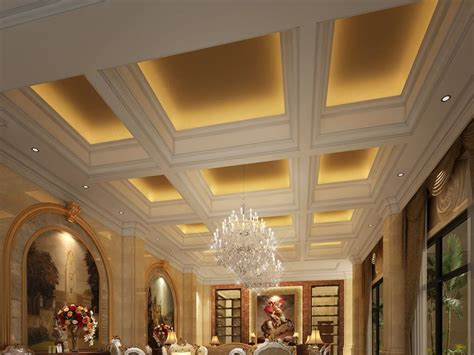 various ceiling materials to create luxury modern home 4