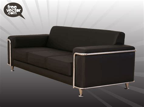 ebony couch black couch vector vector art graphics freevector com