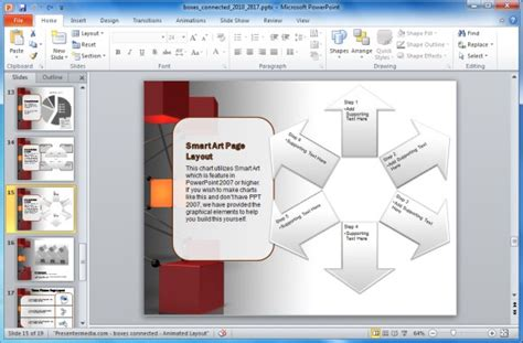 Animated Network Powerpoint Template For It And Technology Free Smartart For Powerpoint