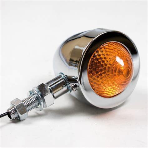 Motorrad Blinker Bullet by Runde Motorrad Bullet Blinker Verchromt Gelbes Glas 28 95