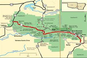 talimena scenic drive map america s byways