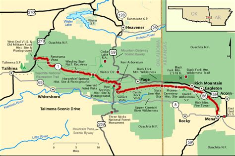 national scenic byways map of talimena national scenic byway talimena scenic