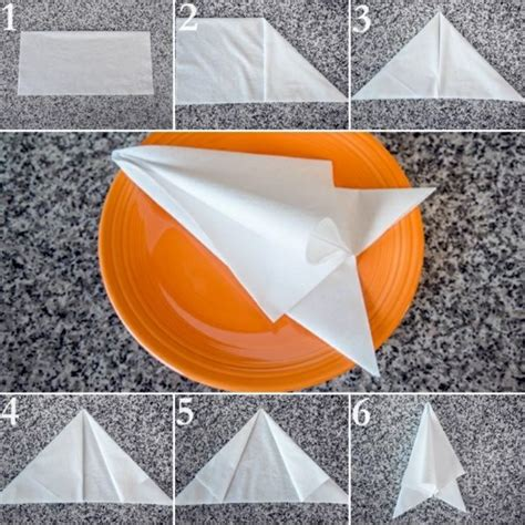 Simple Paper Napkin Folding - paper napkin folding create festive