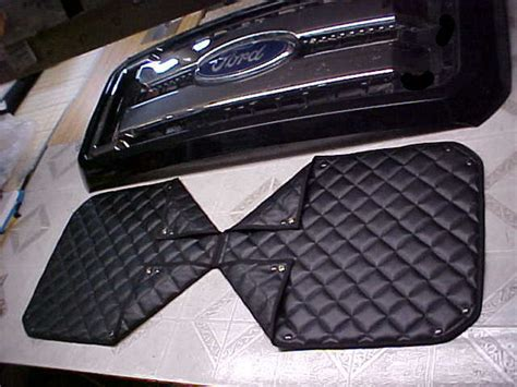 quilted   winter front winter front grill cover  bug screen