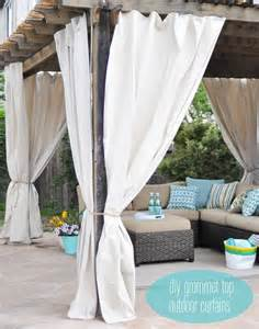 Diy Outdoor Curtains One Day Outdoor Room Makeover Centsational