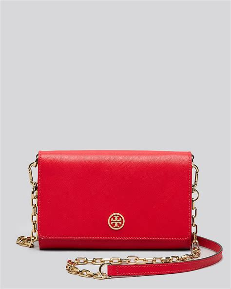 Tory Burch Crossbody   Robinson Contrast Wallet On A Chain   Bloomingdale's