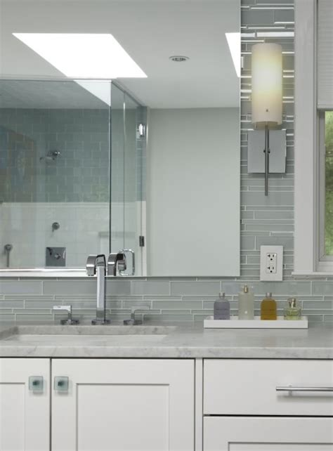glass tile backsplash ideas bathroom gray bathroom tiles contemporary bathroom aidan design