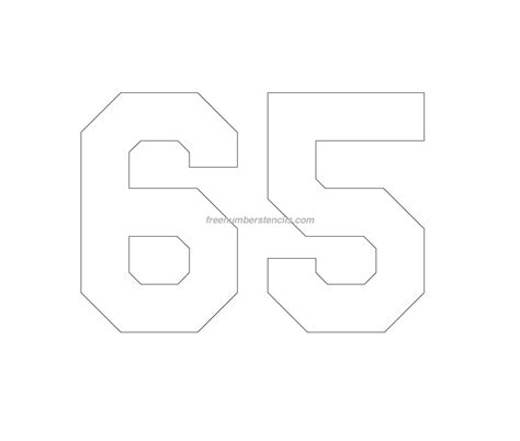 printable jersey numbers free jersey printable 65 number stencil