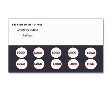 loyalty card template free 30 printable punch reward card templates 101 free