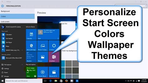 Start To Colour 2 how to change windows 10 start screen colors background