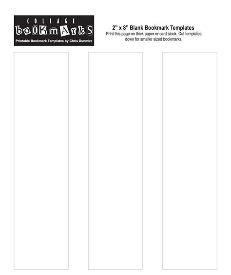 free bookmarks templates free printable bookmarks templates template update234
