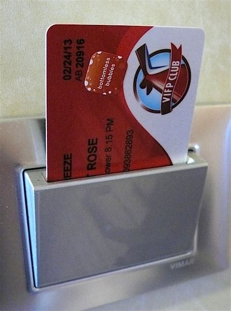 key card activated electricity system    touch