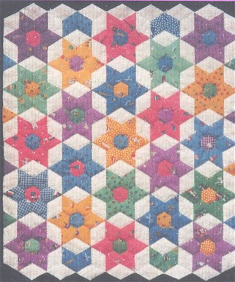 english quilt pattern english paper piecing patterns star bouquet pattern