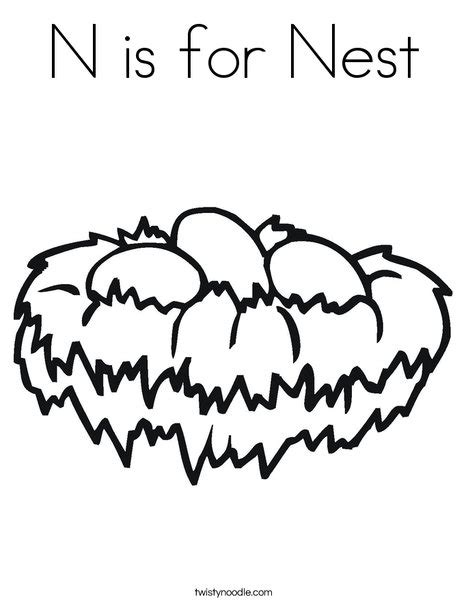 chicken nest coloring page n is for nest coloring page twisty noodle