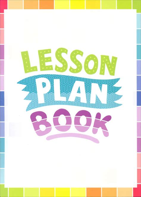design cover lesson lesson plan book painted palette 043242 details