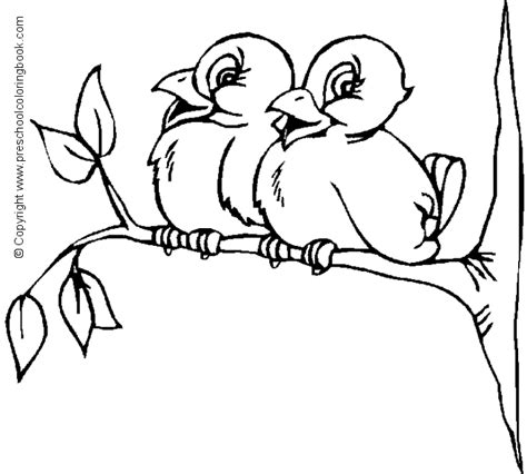 preschool coloring pages of birds www preschoolcoloringbook com bird coloring page