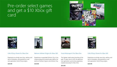Free Xbox One Gift Cards - microsoft giving free gift cards with xbox one and xbox 360 game pre orders softpedia