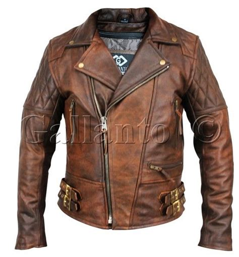 brown motorcycle jacket motorcycle biker brown distressed vintage