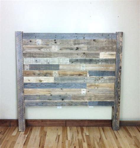 headboard pallet furniture reclaimed barn wood head
