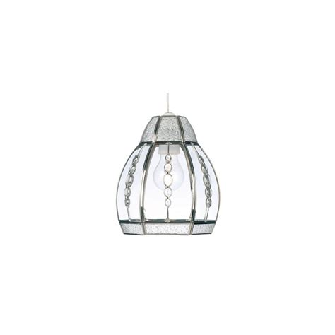 Beaded Glass Pendant Light Beaded Glass 1214 Clear Ceiling Pendant Light