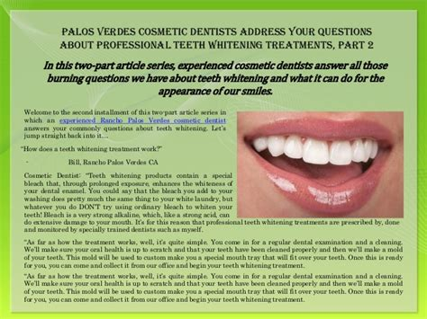 palos verdes cosmetic dentists address  questions