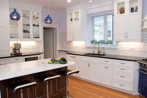 Kitchen Cabinets Wilmington De White Kitchen With A Blue Kitchen Stove In Wilmington Delaware