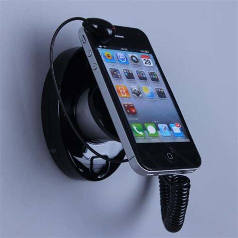 wall mounted cell phone holder security anti theft wholesale iphone display mount stand