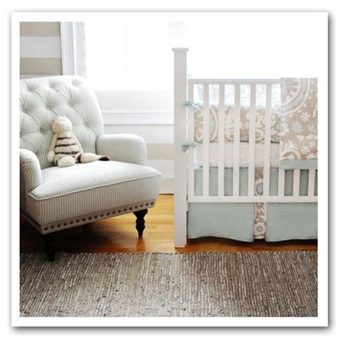 new arrivals picket fence 4 piece crib bedding set beige