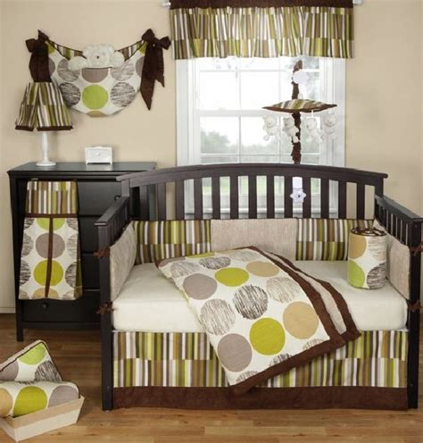 Green And Brown Crib Bedding 30 Colorful And Contemporary Baby Bedding Ideas For Boys