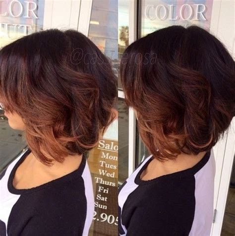 ombre colored hair cut in a line bob short ombre bob haircut with layers hairstyles weekly