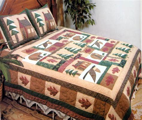 Handmade King Size Quilts - buy winter cabin quilt king size 108 inch x 90 inch