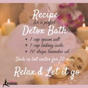 10 Day Detox Bath Ingredients by Detox Bath Recipe Live Fitness