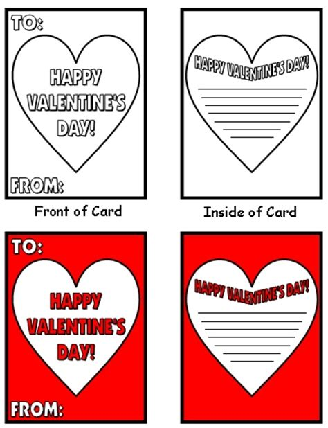 pre k s day cards templates valentines cards templates word free filecloudei