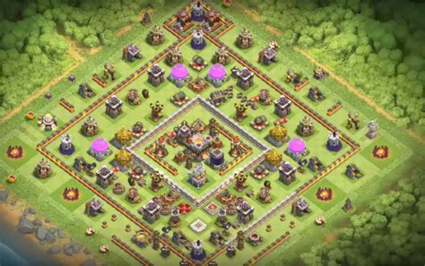 TH8 to TH11 Farming, Trophy & War Base Layouts October