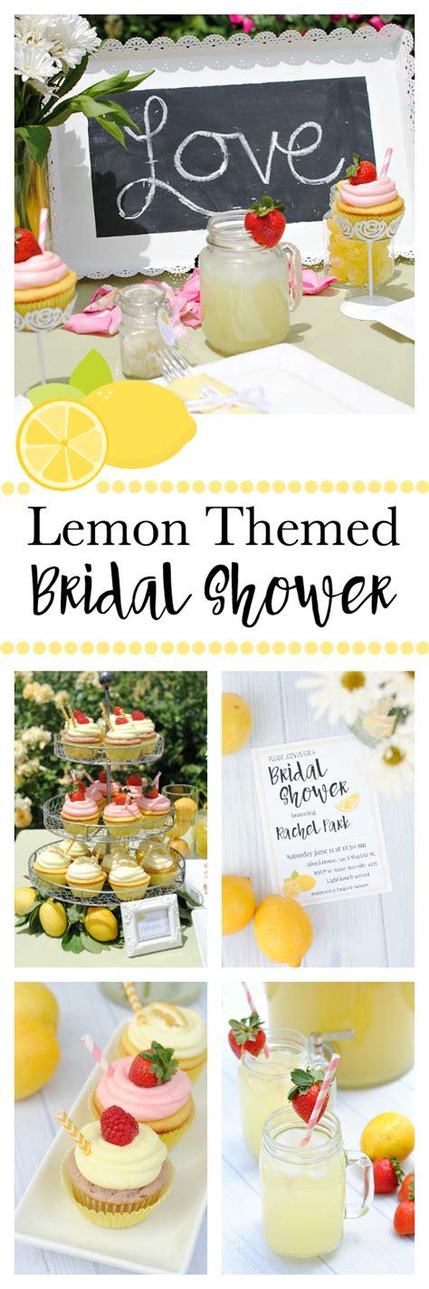 lemon themed summer bridal shower squared