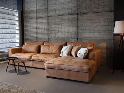 couch aspirations brown suede industrial rustic