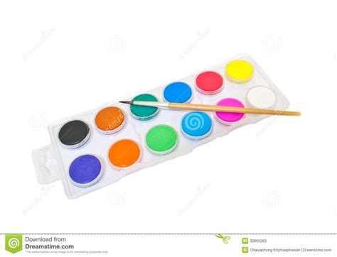 color plate water color plate stock photos image 30865063