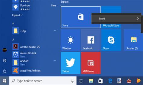 windows 10 tiles tutorial how to disable resizing unpinning start menu tiles in