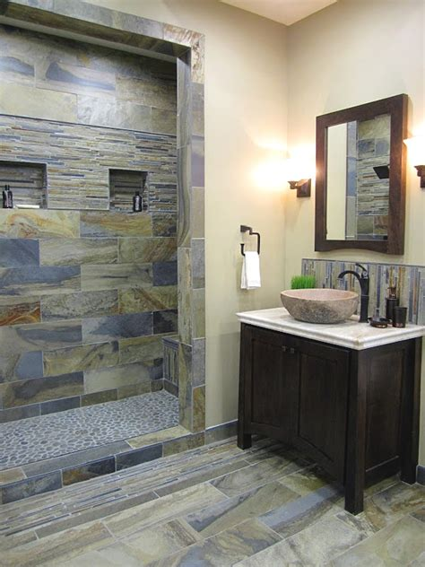 slate bathrooms rustic slate bathroom bathroom remodel pinterest