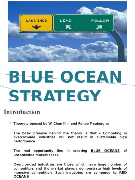 Blue Ocean Strategy Ppt Strategic Management Business Blue Strategy Ppt