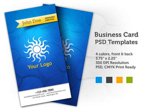 Business Cards Templates Front And Back Psd by Business Card Psd Templates Front Back Psd File Free