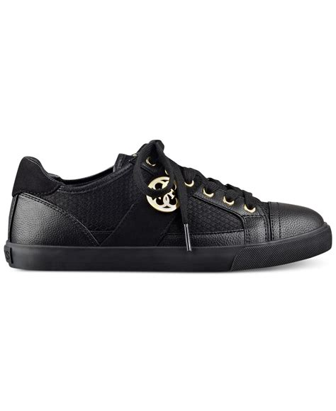guess sneakers guess s macby lace up sneakers in black lyst