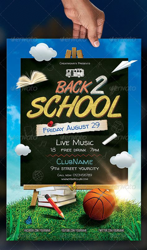 16 Free Back To School Flyer Psd Templates Designyep Free Back To School Flyer Template