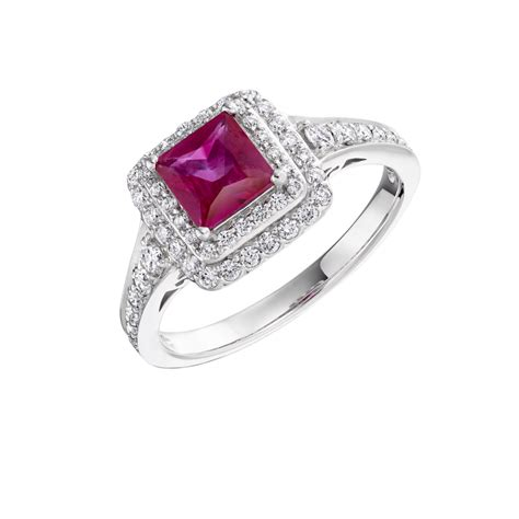 square shape ruby ring