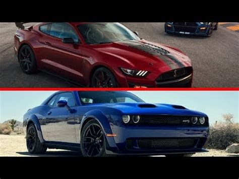 2020 Mustang Gt500 Vs Dodge by 2020 Mustang Shelby Gt500 Vs Challenger Srt Hellcat