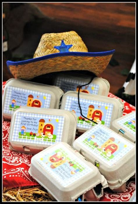 Giveaways For 1 Year Old Birthday Party - barnyard birthday party ideas bags birthdays and party favors