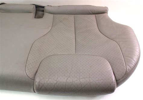 leather bench seat cushions back rear seat cushion bench grey leather 06 10 vw passat