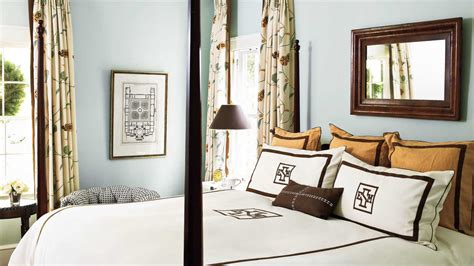 chocolate brown master bedroom chocolate and blue beautiful blue bedrooms southern living