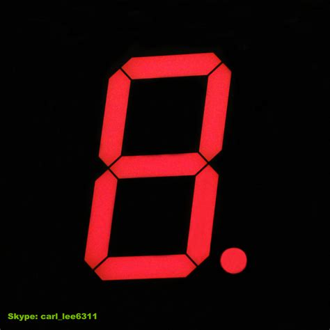 Obeng Led 8 In 1 outdoor led 8 quot number display large 7 segment led display 1 digit 8 inch view 7 segment led
